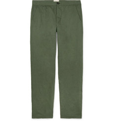Oliver Spencer - Linen and Cotton-Blend Canvas Drawstring Trousers