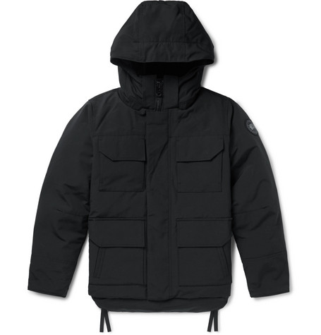 Canada Goose – Black Label Maitland Shell Hooded Down Parka – Black