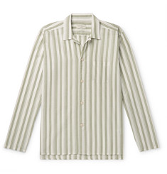 Oliver Spencer Loungewear Striped Organic Cotton Pyjama Shirt