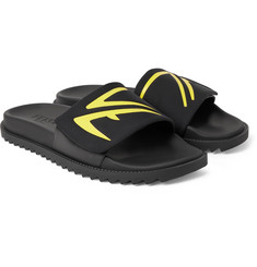 Fendi Printed Neoprene and Rubber Slides