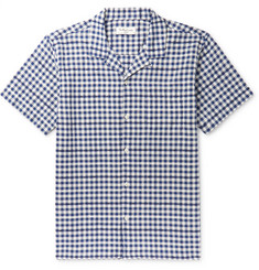 YMC Camp-Collar Gingham Cotton-Blend Shirt