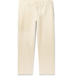 YMC Slim-Fit Cotton and Linen-Blend Trousers