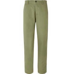 YMC Duke Cotton and Linen-Blend Trousers