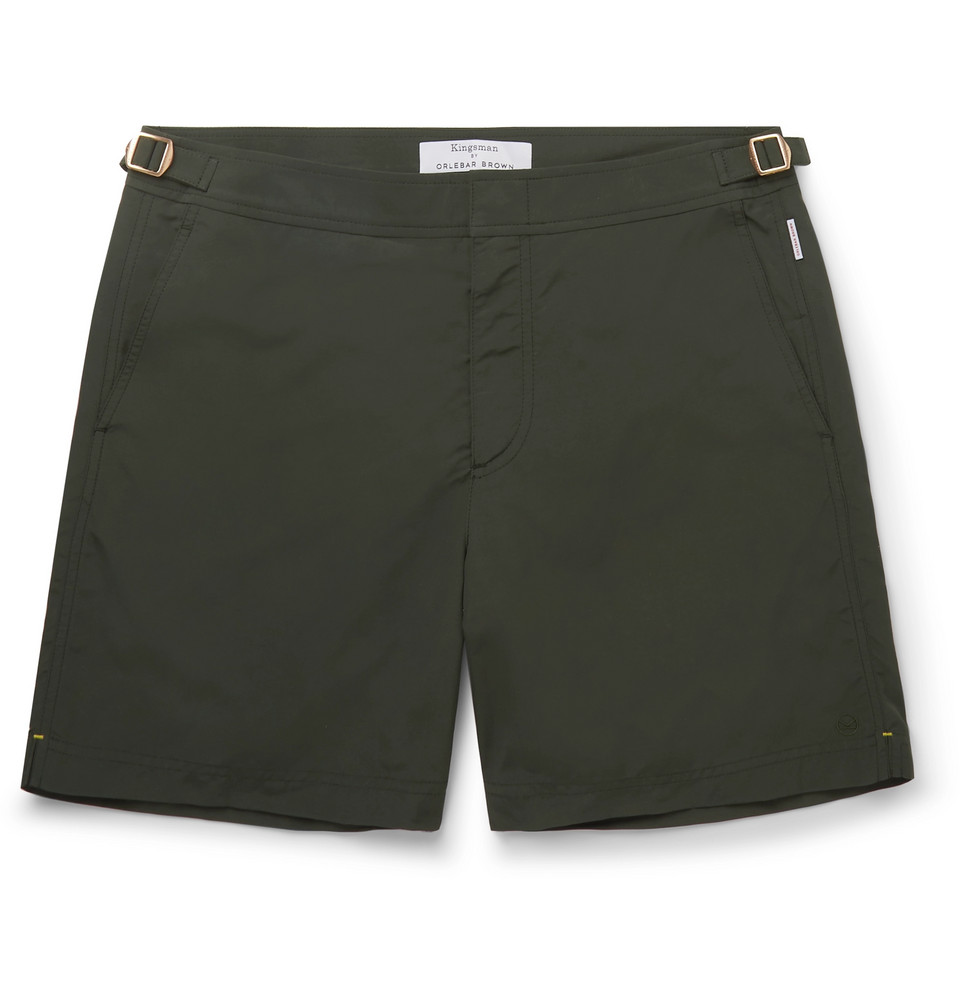+ Orlebar Brown Bulldog Mid-length Swim Shorts - Green
