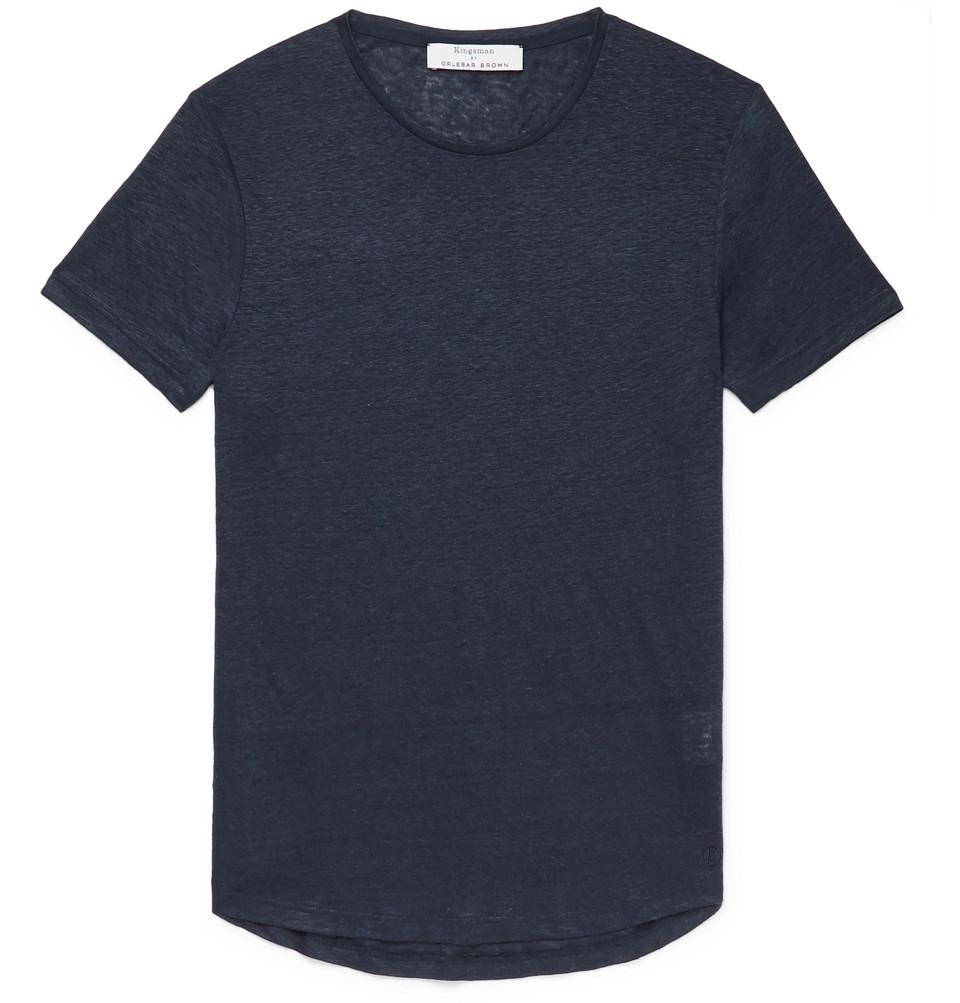+ Orlebar Brown Sebastian Slim-fit Linen-jersey T-shirt - Navy