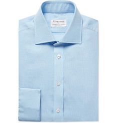 Kingsman + Turnbull & Asser Light-Blue Cutaway-Collar Linen Shirt