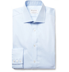 Kingsman + Turnbull & Asser Light-Blue Puppytooth Cotton Shirt