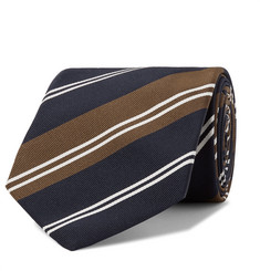 Kingsman - + Drake's 8cm Striped Silk and Cotton-Blend Twill Tie
