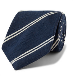 Kingsman + Drake's 8cm Striped Slub Silk Tie