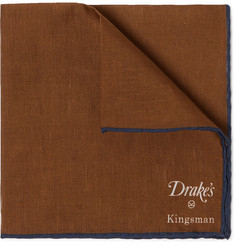 Kingsman - + Drake's Linen and Cotton-Blend Pocket Square