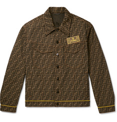 Fendi Logo-Intarsia Denim Jacket