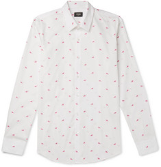 Fendi Slim-Fit Printed Cotton-Poplin Shirt