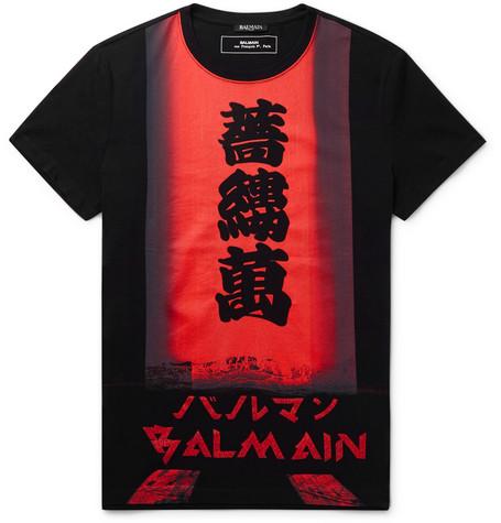 6dae63293 Balmain - Slim-Fit Logo-Print Cotton-Jersey T-Shirt