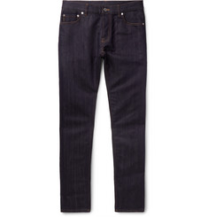 Berluti - Slim-Fit Cotton and Mulberry Silk-Blend Denim Jeans