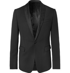 Berluti - Black Alessandro Slim-Fit Silk Satin-Trimmed Wool Tuxedo Jacket