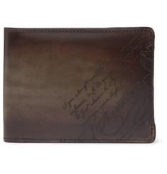 Scritto Leather Billfold Wallet - Dark brown