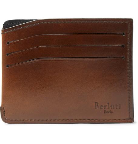 Berluti – Bambou Leather Cardholder – Brown