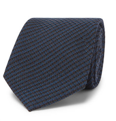Berluti - 6cm Checked Wool and Mulberry Silk-Blend Tie