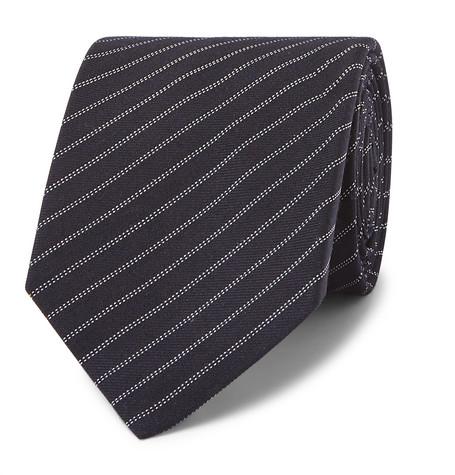 Berluti – 6.5cm Striped Wool And Silk-blend Tie – Midnight blue