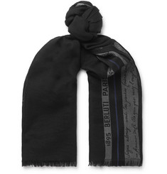 Berluti - Silk, Wool and Cashmere-Blend Jacquard Scarf
