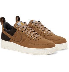 Nike + Carhartt WIP Air Force 1 Suede-Trimmed Canvas and Corduroy Sneakers