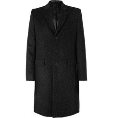 Givenchy Slim-Fit Leopard-Jacquard Wool Coat