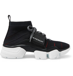 Givenchy Jaw Logo-Detailed Mesh and Leather Sneakers