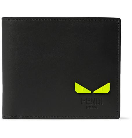 Embellished Leather Billfold Wallet by Fendi