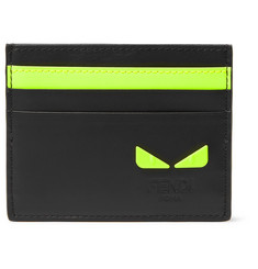 Fendi Appliquéd Leather Cardholder