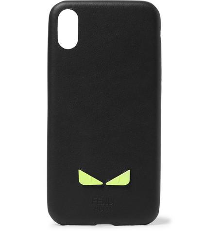 wholesale dealer e5a60 5d7c0 Fendi - Appliquéd Leather iPhone X Case