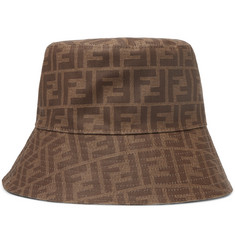 Fendi Logo-Jacquard Coated-Canvas Bucket Hat