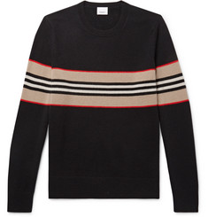 Burberry Striped Intarsia Cashmere Sweater