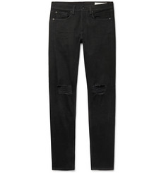 rag & bone Fit 1 Skinny-Fit Distressed Stretch-Denim Jeans
