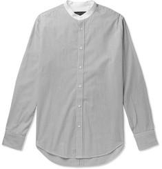 d8d882ec04 rag & bone Grandad-Collar Striped Cotton Shirt