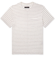 rag & bone Striped Slub Linen-Jersey T-Shirt