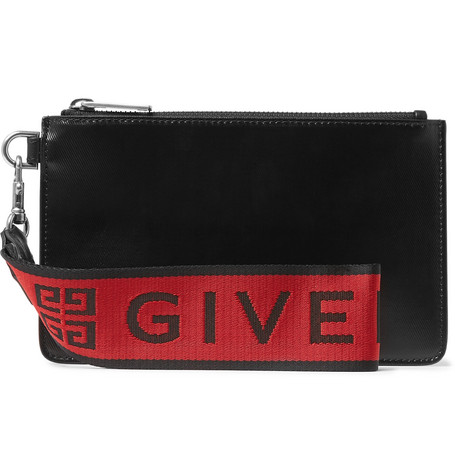 Givenchy – Coated-canvas Pouch – Black