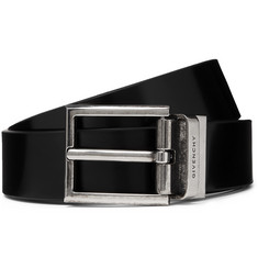 3cm Black Reversible Leather Belt - Black
