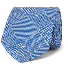 Emma Willis 9cm Prince of Wales Checked Silk-Twill Tie