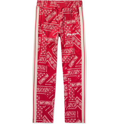 Palm Angels Webbing-Trimmed Printed Tech-Jersey Track Pants