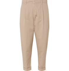 AMI - Tapered Pleated Cotton-Twill Chinos