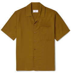 AMI Camp-Collar Satin-Twill Shirt