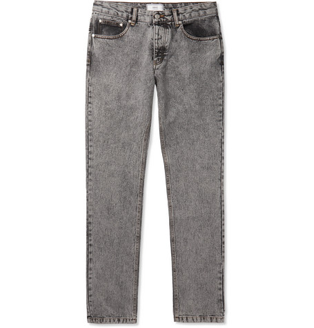 AMI PARIS | AMI - Slim-Fit Denim Jeans - Gray | Goxip
