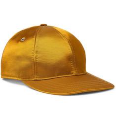 Logo-appliquéd Satin-twill Baseball Cap - Gold