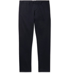 AMI Navy Slim-Fit Cotton-Twill Chinos