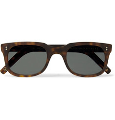Kingsman - + Culter and Gross Square-Frame Matte Tortoiseshell Acetate Sunglasses