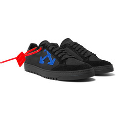 Off-White 2.0 Suede-Trimmed Canvas Sneakers