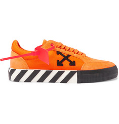 Off-White Suede and Canvas Sneakers