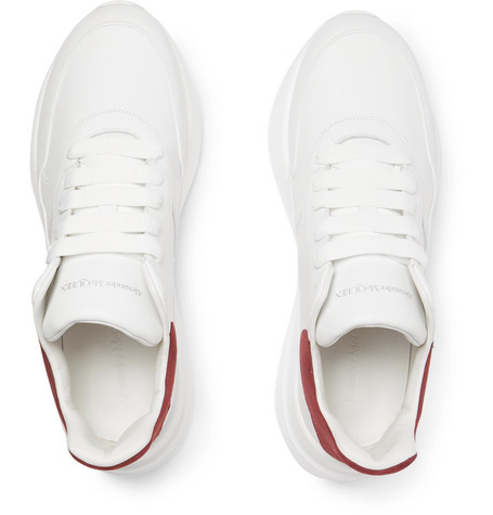 Alexander Mcqueen Sneakers Exaggerated-Sole Suede-Trimmed Leather Sneakers