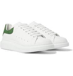 Alexander McQueen - Exaggerated-Sole Suede-Trimmed Leather Sneakers