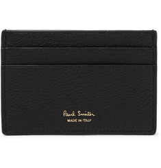 Paul Smith Stripe-Trimmed Textured-Leather Cardholder